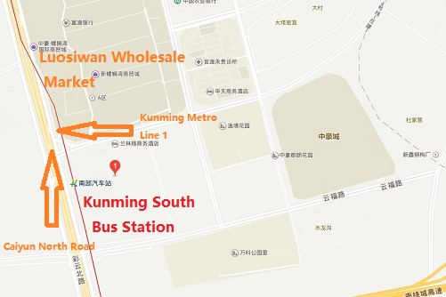 Kunming Metro Map.Kunming South Bus Station Location Map Schedule Transit Guide